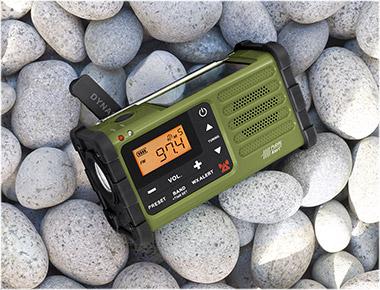SANGEAN SG-112 GREEN AM/FM WEATHER EMERGENCY RADIO