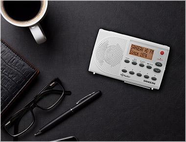SANGEAN SG-108 WHITE/GRAY HD RADIO FM STEREO AM POCKET RADIO