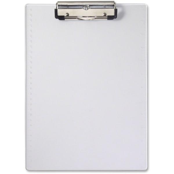 "Acrylic Clipboard, 1/2"" Capacity, Holds 8-1/2w x 12h, Clear"