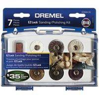 Dremel EZ Lock Mini Polishing/Sanding Kit, 7 Pieces