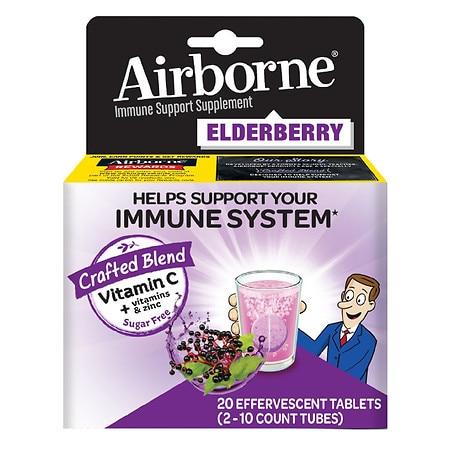 Immune Support Effervescent Tablet, Elderberry, 20 Count