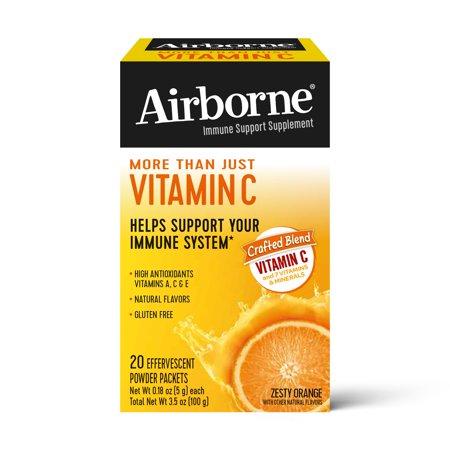 Immune Support Effervescent Powder On-The-Go Packs, Orange, 20 Count