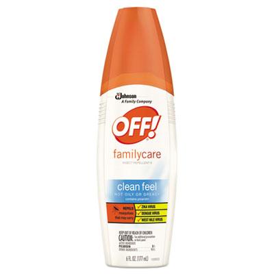 FamilyCare Clean Feel Spray Insect Repellent, 6 oz Spray Bottle, 12/Carton