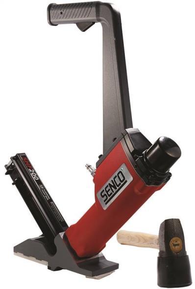 Senco SHF200 RW Strip Floor Nailer, 107 Nails, 1-1/2 - 2 in 16 ga L Shaped Cleat Nail