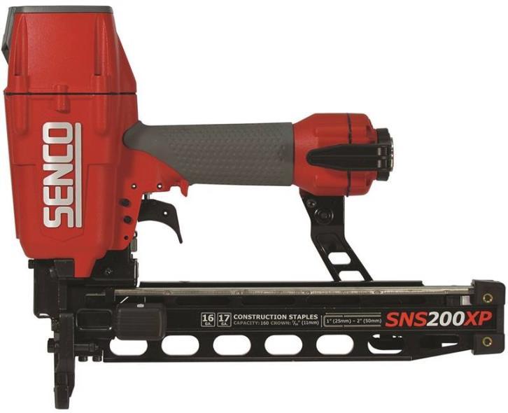 Senco 7B0001N Heavy Wire Pneumatic Construction Stapler, 2 in, 17 - 16 ga, 160 Staple