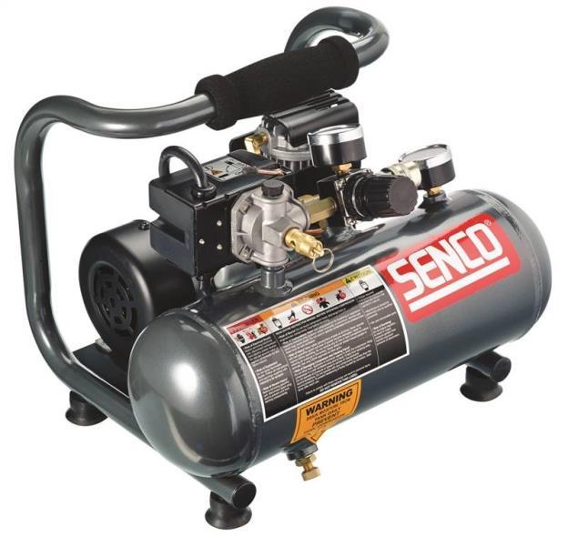Senco PC1010 Air Compressor, 1/2 hp, 1 gal, 125 psi, 0.7 scfm at 90 psi
