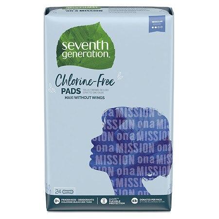 Chlorine-Free Maxi Pads, Regular, 24/Pack, 6 Packs/Carton