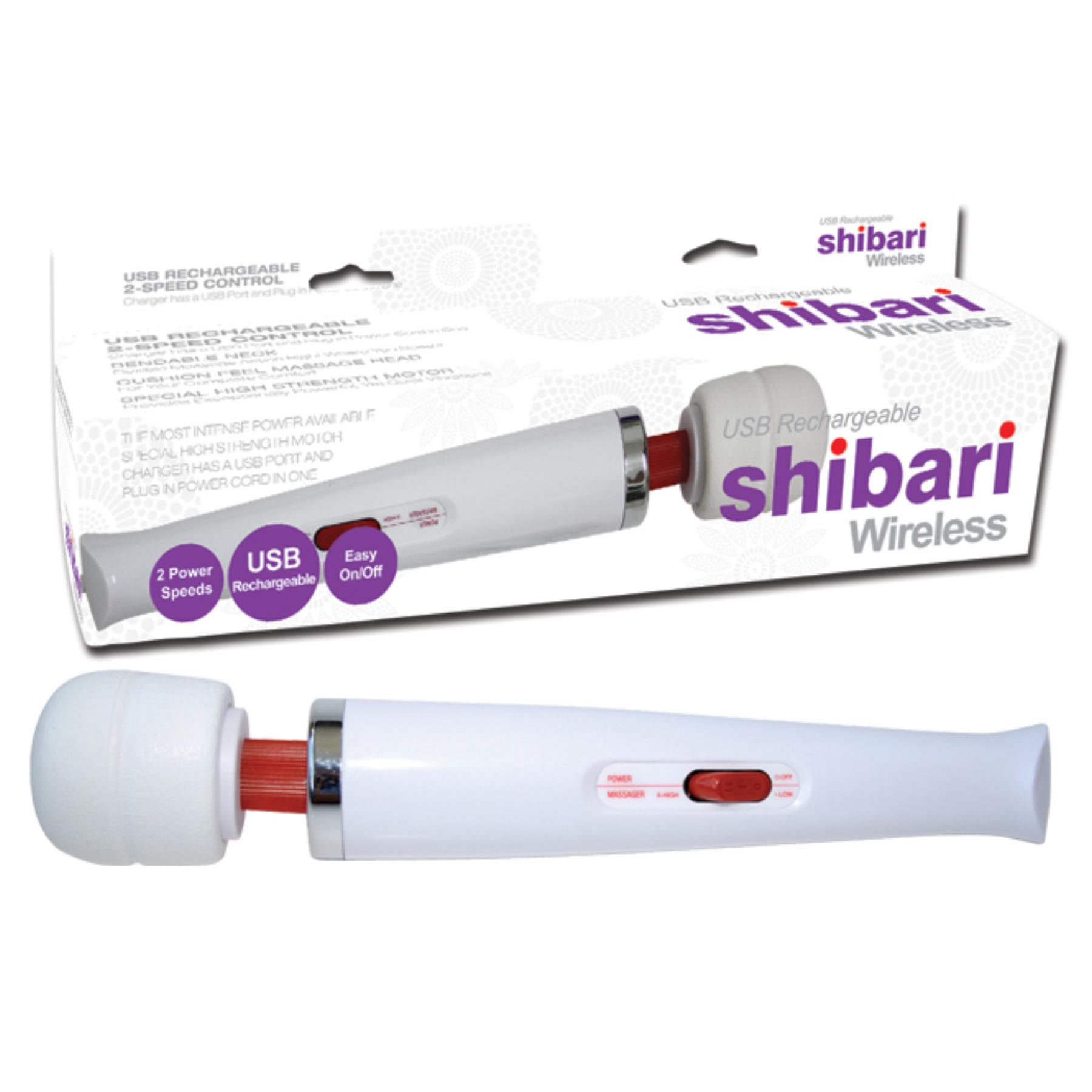 SHIBARI SHIBWWHT WHITE SHIBARI WIRELESS 2 SPEED WAND WITH