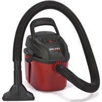 Shop-Vac 2021000 Wet/Dry Wall Mount Corded Vacuum, 120 VAC, 6 A, 1.5 hp, 1 gal Tank, 98 cfm