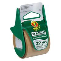 Duck EZ Start Packaging Tape With Dispenser, 1.88 in W x 22.2 yd L x 2.6 mil T, Tan