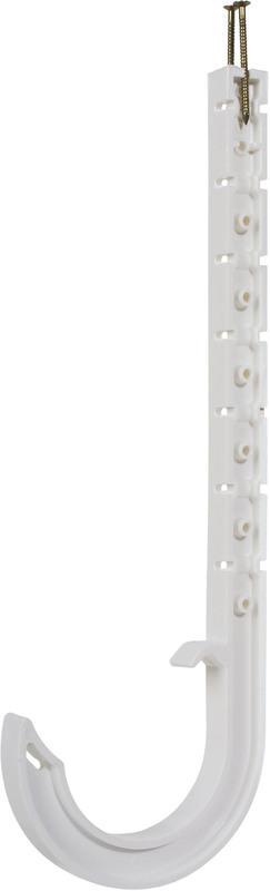 5536W 1-1/2 DWV WHITE J-HOOK