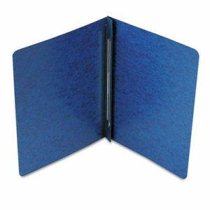 Side Opening PressGuard Report Cover, Prong Fastener, Letter, Dark Blue