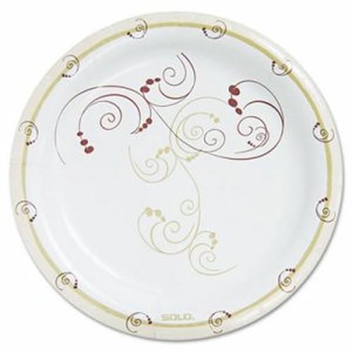 "Symphony Paper Dinnerware, Heavyweight Plate, 9"", Tan, 125/Pack"