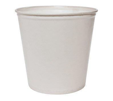 Double Wrapped Paper Bucket, Waxed, White, 165oz, 100/Carton