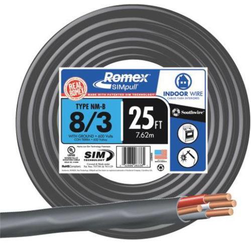 63949221 8-3 CU 25 FT. W/G ROMEX