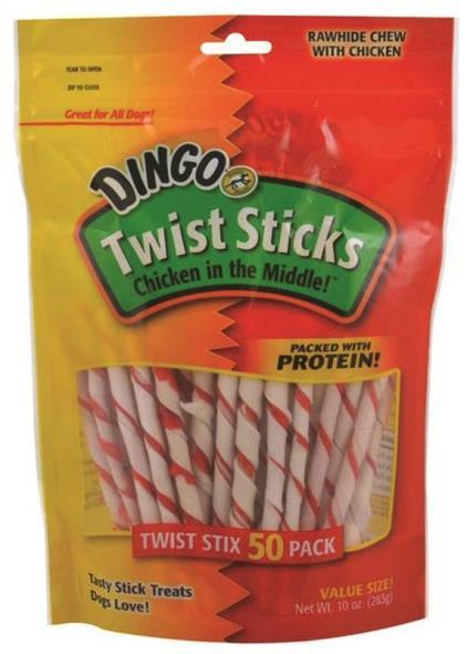 United Pet P-45022 Dingo Dog Treats, Twist Sticks