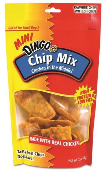 United Pet P-15014 Dingo Dog Treats, Chip Mix, 7.5 Oz