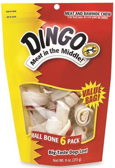 United Pet 95005 Dingo Dog Treats, Rawhide Bone, 9 Oz