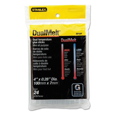 """Dual Temperature Mini Glue Sticks, 4"""", Clear, 24/Pack"""