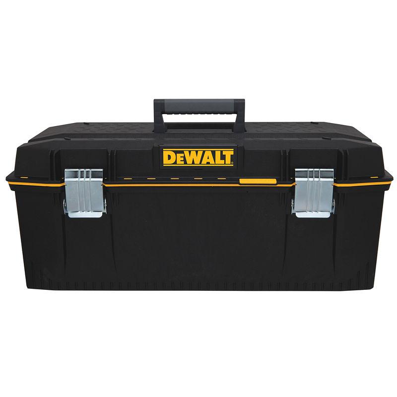 DeWalt DWST28001 Lockable Water Seal Tool Box, 28 in W, 2125.2 cu-in, Black