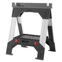 FatMax 011031S Adjustable Folding Saw Horse, 2500 lb, 33 in H x 27-1/2 in W, Aluminum/Polypropylene