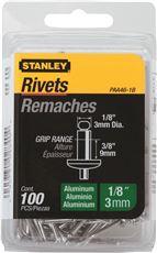 STANLEY� ALUMINUM RIVETS 1/8 IN. X 3/8 IN., 100 PACK