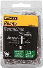 STANLEY� ALUMINUM RIVETS 1/8 IN. X 1/2 IN., 100 PACK