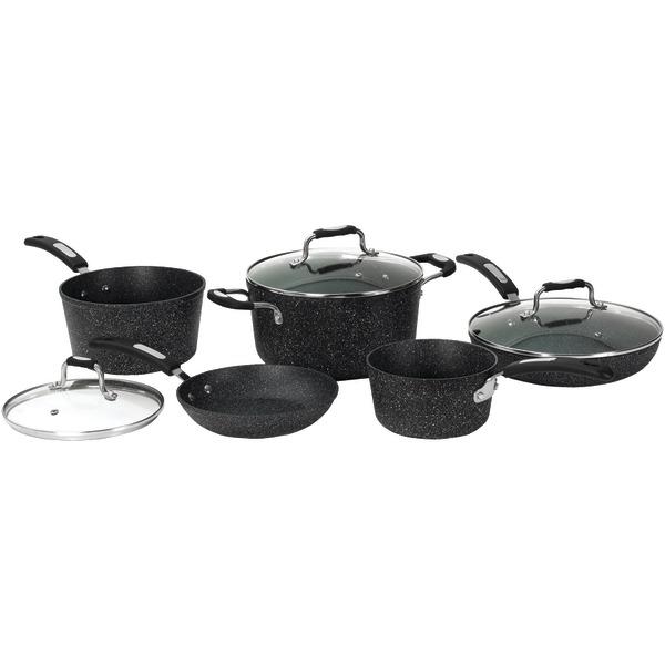 THE ROCK by Starfrit 030930-001-0000 THE ROCK by Starfrit 10-Piece Cookware Set with Bakelite Handles