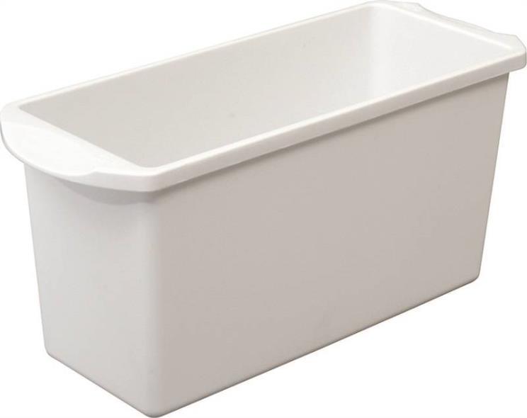 Sterilite 72508006 Dishwasher-Safe Ice Cube Bin, 13-1/4 in L x 5-1/8 in W x 6 in H, Plastic