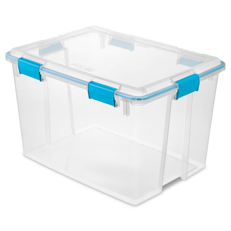 BOX GASKT W/LATCH LID CLR 80QT