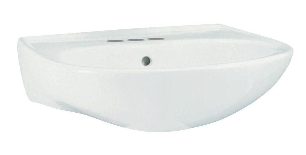 4 Vitreous China Pedestal Lavatory Bowl *SACRAM White