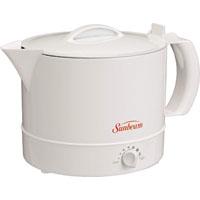 Rival Hot Pot Express Water Heater, 32 oz, 1000 W, 7, Polypropylene, White