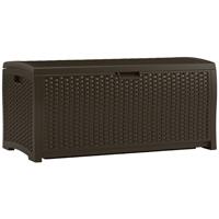 BOX DECK RESIN WICKER 77GAL BROWN