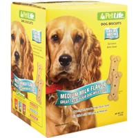 Pet Life 02907 Crunchy Texture Dog Biscuit, 4 lb, Milk