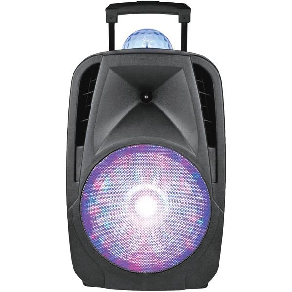 Supersonic IQ-6112DJBT-BK 12-Inch Light-Up Portable Bluetooth DJ Speaker with Disco Light