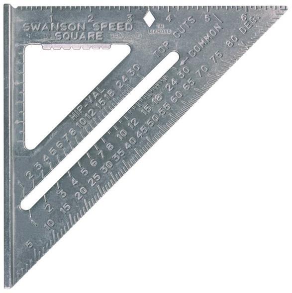 Swanson Speed T0101 Square, 7 X 7 X 1 in, Aluminum Alloy, Matte