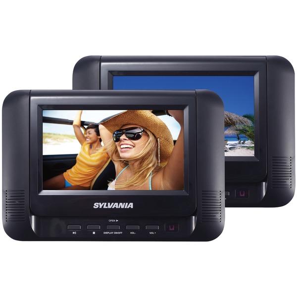 "SYLVANIA SDVD8791 7"" Dual Screen/Dual DVD Portable DVD Players"