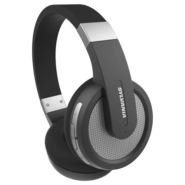 SYLVANIA SBT274-BLACK Over-Ear Bluetooth Headphones with Microphone (Black)