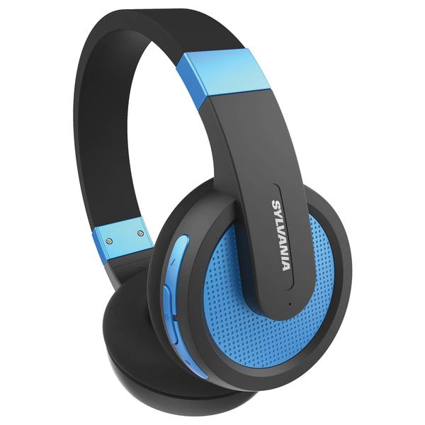 SYLVANIA SBT274-BLUE Over-Ear Bluetooth Headphones with Microphone (Blue)