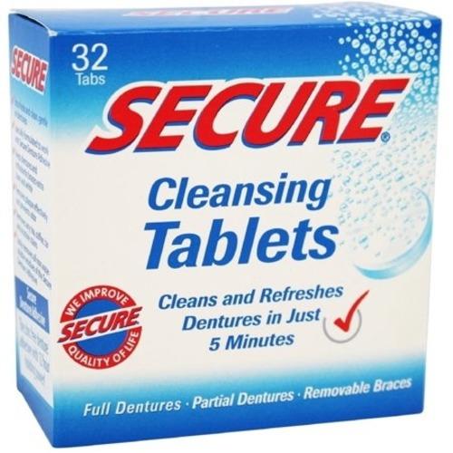 SECURE Denture Adhesive Denture Cleanser (32 Tablets)