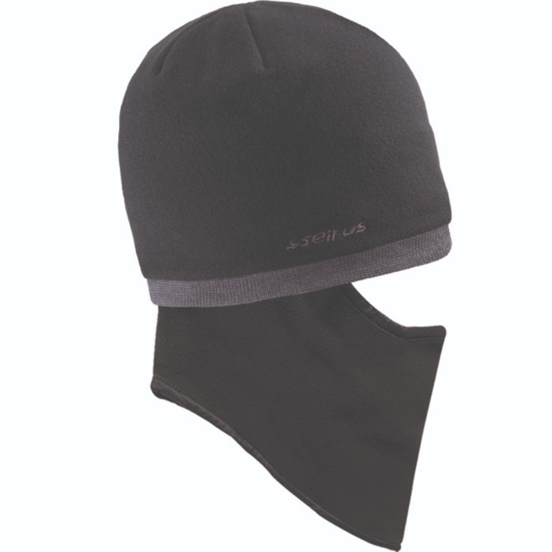 Seirus Quick Clava Fleece Knit Black Charcoal OSFM