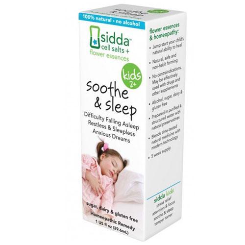 Sidda Flower Essences Soothe and Sleep Kids Age Two Plus 1 fl Oz