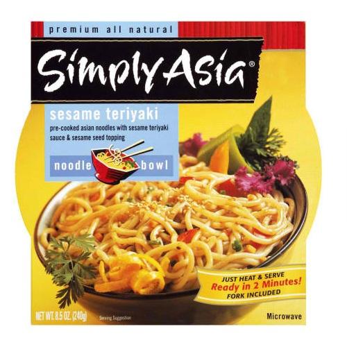 Simply Asia Sesame Teriyaki Noodle Bowl (6x85 Oz)