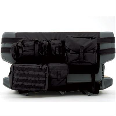 76-18 CJ & WRANGLER (YJ/TJ/LJ/JK) GEAR SEAT COVER - FRONT - BLACK