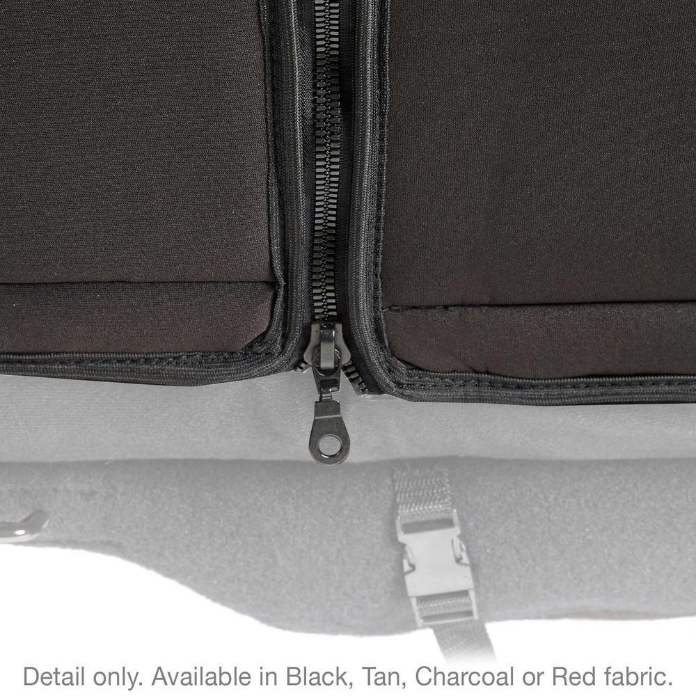 JEEP 08-12 WRANGLER JK - 4 DOOR NEOPRENE SEAT COVER SET FRONT/REAR - BLACK
