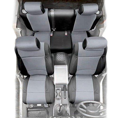 07 WRANGLER JK - 4 DOOR NEOPRENE SEAT COVER SET FRONT/REAR - CHARCOAL