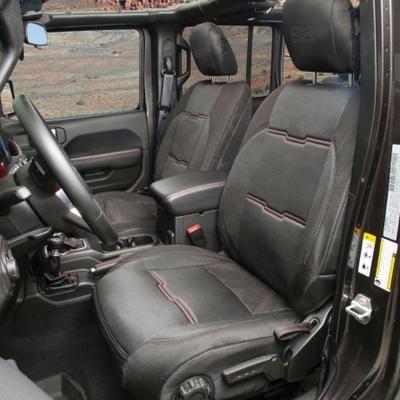SMITTYBILT NEOPRENE SEAT COVER SET FRONT/REAR - BLACK GEN 2