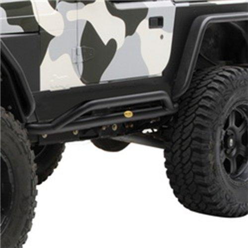 07-18 WRANGLER JK 4 DOOR SRC ROCKER GUARDS- BLACK TEXTURED - NEW STYLE