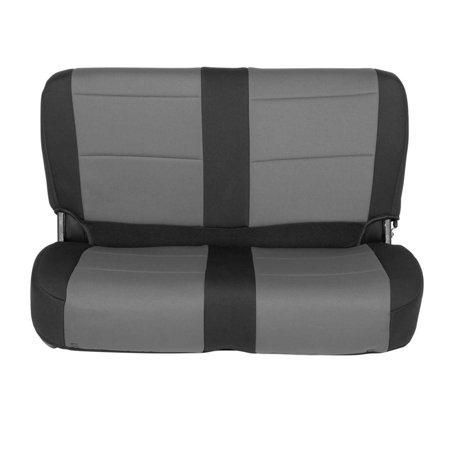 76-90 CJ/YJ NEOPRENE SEAT COVER SET FRONT/REAR - CHARCOAL