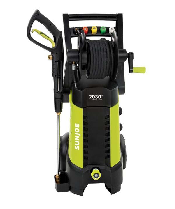 Sun Joe SPX3001 Electric Pressure Washer , 2030 PSI + 1.76 GPM + 14.5-Amp , Hose Reel